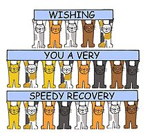 Cats wishing you a speedy recovery. by KateTaylor