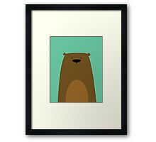 Stumped Bear Framed Print