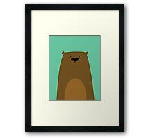 Stumped Bear Framed Print