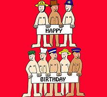 Happy Birthday from several naked men. by KateTaylor