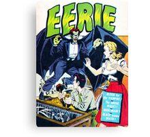 Eerie Vampire Comic Cover Canvas Print