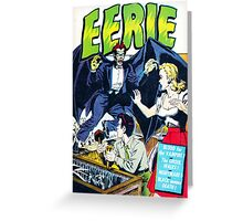 Eerie Vampire Comic Cover Greeting Card
