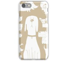 dogs - latte iPhone Case/Skin