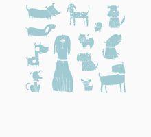 dogs - pale blue Unisex T-Shirt