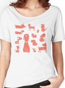 dogs - coral Women's Relaxed Fit T-Shirt