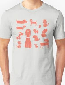 dogs - coral Unisex T-Shirt