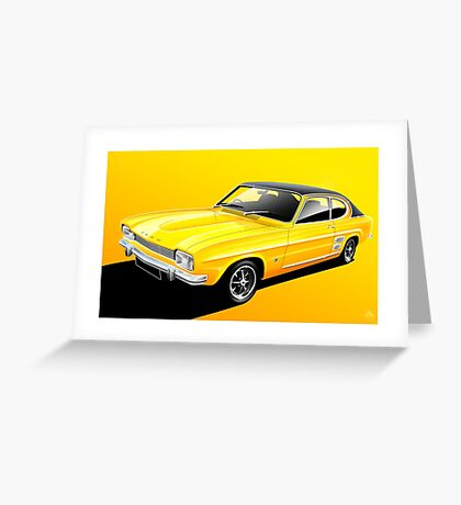 Poster artwork - Ford Capri Greeting Card