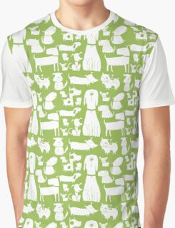 dogs - green Graphic T-Shirt