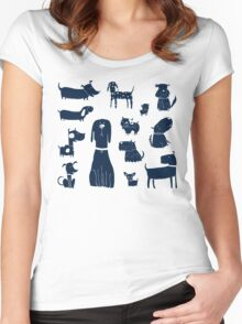 puppers Women's Fitted Scoop T-Shirt