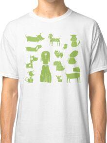 dogs - green Classic T-Shirt