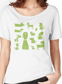dogs - green Women's Relaxed Fit T-Shirt