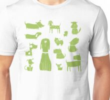 dogs - green Unisex T-Shirt