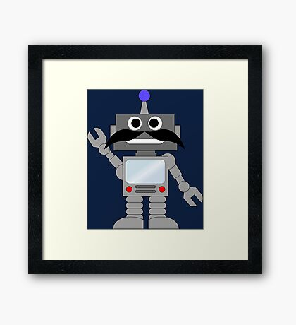 Mr. Robot Say Hello Framed Print