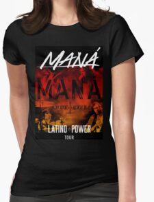mana latino power tour Womens Fitted T-Shirt