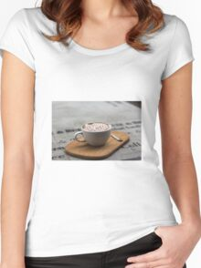 Cappaccino Women's Fitted Scoop T-Shirt