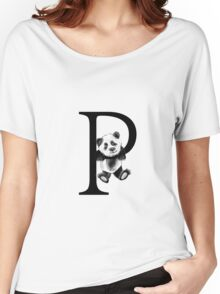 Panda letter P Women's Relaxed Fit T-Shirt