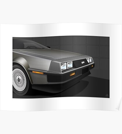 Poster artwork - DeLorean DMC-12  Poster