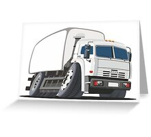 Cartoon delivery or cargo truck Greeting Card