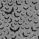 Swirly Bat Swarm by . VectorInk