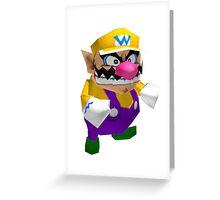 Wario sprite Greeting Card