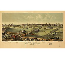 Aerial View of Toledo, Ohio (1876) Photographic Print