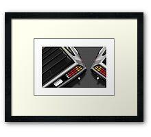 Poster artwork - DeLorean DMC-12 Framed Print