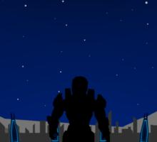 Minimalist Halo 3 Poster Sticker