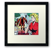 The Zombie has spotted you! Framed Print
