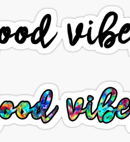 Good Vibes 2 Pack Sticker