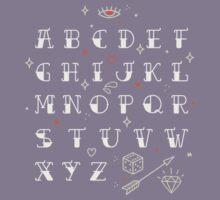 Homemade tattoos alphabet Kids Tee