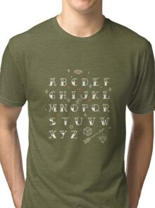 Homemade tattoos alphabet Tri-blend T-Shirt