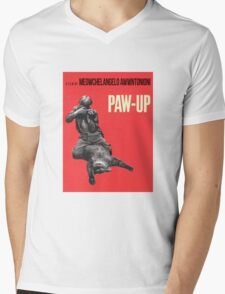PAW-UP Mens V-Neck T-Shirt