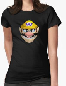 Wario's face Womens Fitted T-Shirt