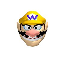 Wario's face Photographic Print