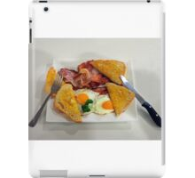 Country Breakfast: Bacon, Eggs and Sourdough Toast. iPad Case/Skin