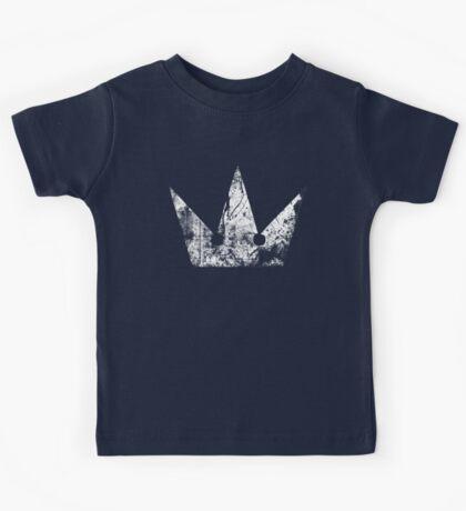 Kingdom Hearts Crown grunge Kids Tee