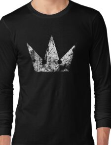 Kingdom Hearts Crown grunge Long Sleeve T-Shirt
