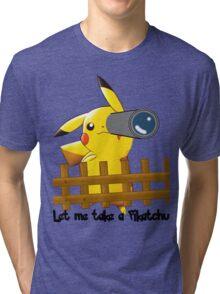 Let me get a pikatchu Tri-blend T-Shirt