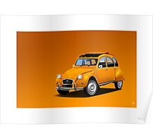Poster artwork - Citroen 2CV  Poster