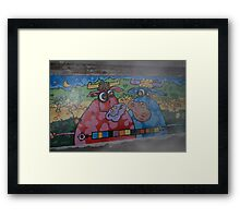 Cartoon Cows Framed Print