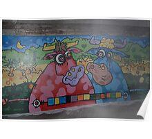 Cartoon Cows Poster
