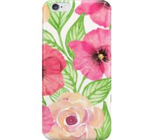 Watercolor Flowers and Leaves iPhone Case/Skin