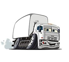 Cartoon Cargo Truck Photographic Print