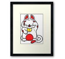 LUCKEE White and Red litter Framed Print