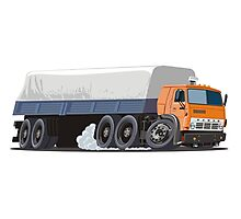 Cartoon cargo semi-truck Photographic Print