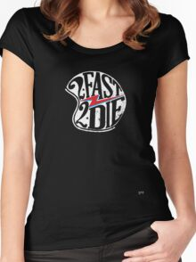 #22 - 2 FAST 2 DIE Women's Fitted Scoop T-Shirt