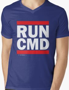 RUN CMD Mens V-Neck T-Shirt