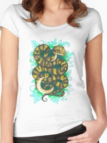 Scrub Python Women's Fitted Scoop T-Shirt
