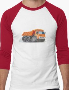 Cartoon Dump Truck Men's Baseball ¾ T-Shirt