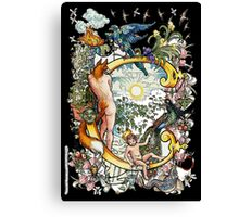 """The Illustrated Alphabet Capital  C  """"Getting personal"""" from THE ILLUSTRATED MAN Canvas Print"""